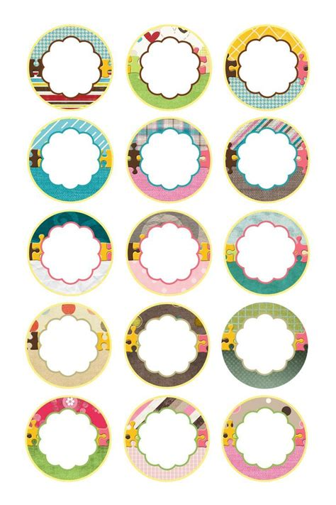 Wow Etiquetas Cabochon Stickers Pinterest Round Labels Template And Bottle Free Printable Cabochon Templates