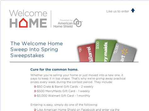 Home Sweeper Sweepstakes - welcome home sweep into spring sweepstakes