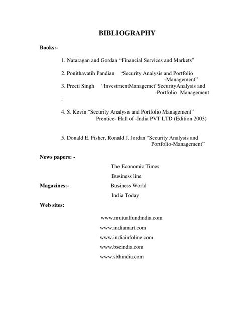Performance Evaluation Of Funds Mba Project by Performance Evaluation Of And Sector