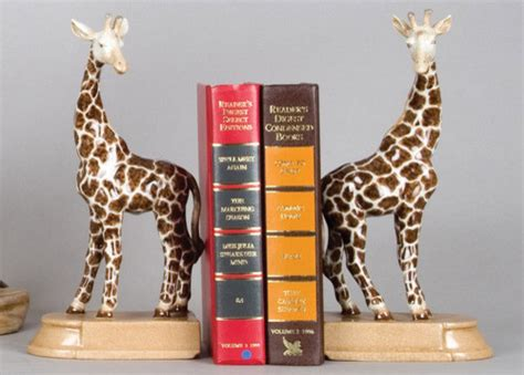 giraffe bookends eclectic bookends by the well