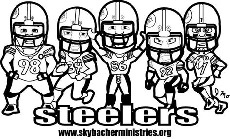 steelers coloring page gage sophia s pages pinterest