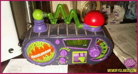 nickelodeon timeblaster alarm clock memory glands nostalgic photos