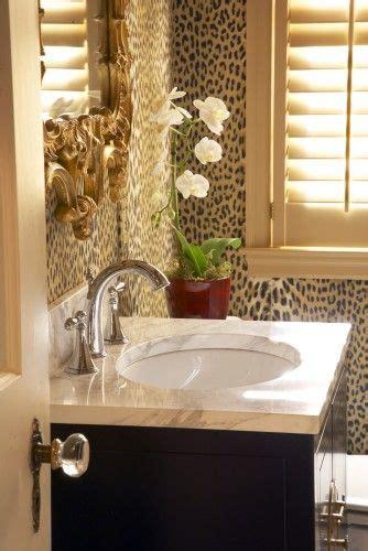 cheetah bathroom wallpaper pattern animal print pinterest powder