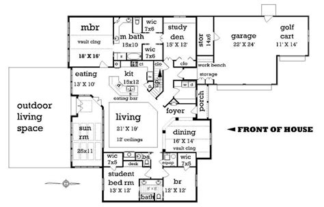craftsman style house plan 4 beds 2 5 baths 2500 sq ft