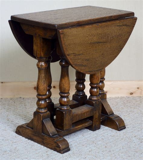 small distressed oak gateleg coffee table 282209