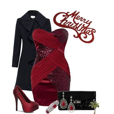 latest christmas party outfits 2013 2014 polyvore xmas