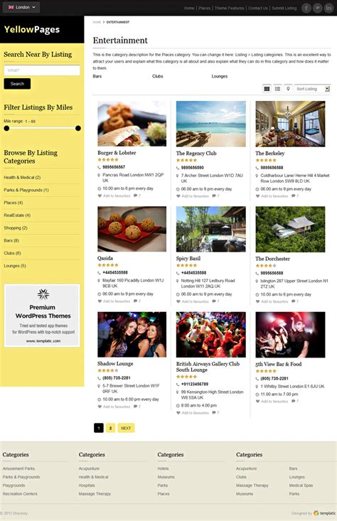 theme wordpress listing responsive directory theme 2018 yellow pages wordpress