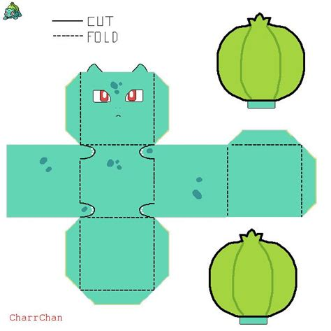 Bulbasaur Papercraft - bulbasaur paper craft by charrchan deviantart on