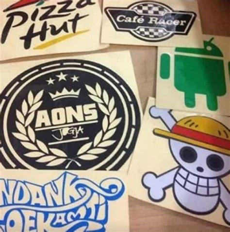 Sticker Sandblast Jogja Unik bikin sticker cutting murah di jogja unik merchandise
