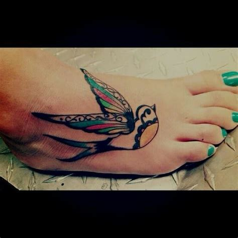 bird foot tattoo foot quote biblical religious