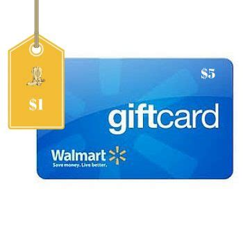 Walmart Gift Card Deals 2016 - 5 walmart gift card only 1