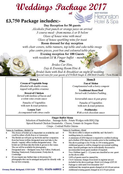 Our Special Wedding Offers