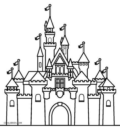 small castle coloring page disney castle coloring pages for adults bourseauxkamas com