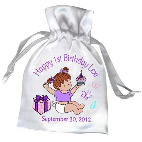 Giveaways For 1st Birthday Baby Girl - first birthday favors for baby girl personalized