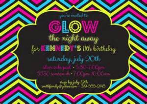 8 best images of glow party invitations printable glow