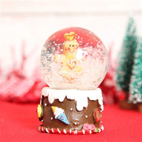 gingerbread mini christmas snow globe dome by red berry