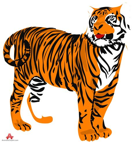 clipart of free tiger clip pictures clipartix
