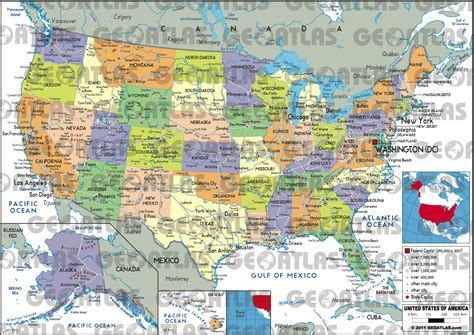 atlas map of the united states geoatlas united states canada united states of america