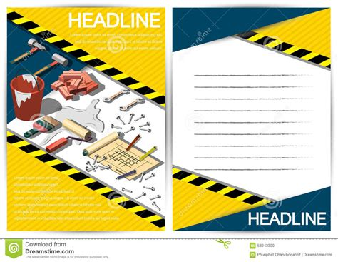 creative construction and design creative construction template flyer brochure vector paper