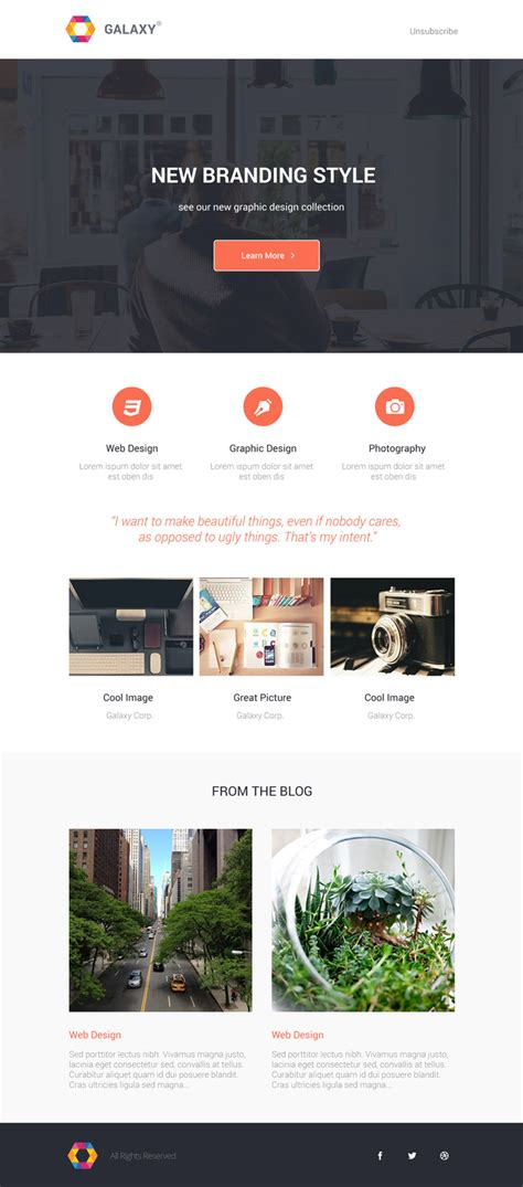 beautiful newsletter templates 25 best newsletter email templates for free