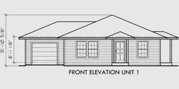 floor plans and elevation drawings house front drawing elevation view for d 392 single story duplex house plans corner lot duplex
