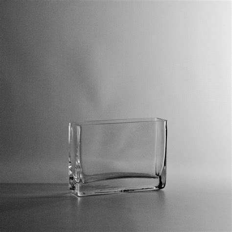 4 quot thin rectangular clear glass vase discount wholesale