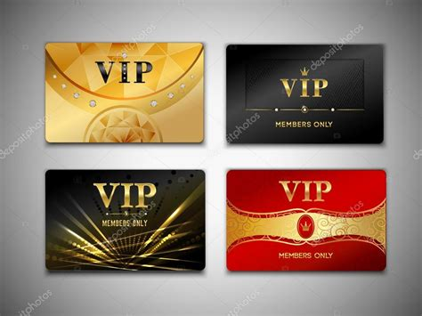 imagenes tarjetas vip peque 241 o conjunto de dise 241 o de tarjetas vip vector de