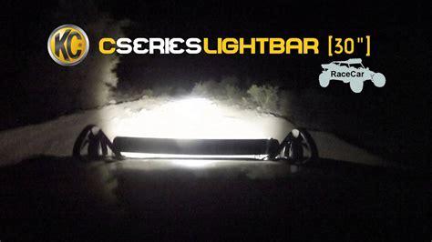 car led light bars kc hilites road light testing on race car 30 quot c