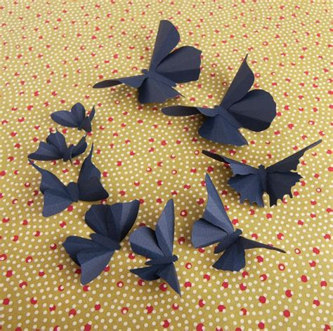 Origami Butterfly Wall - 60 best images on