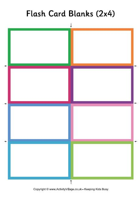 free flash card template for word flash card blanks small