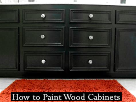 How To Paint Wood Kitchen Cabinets | pinterest