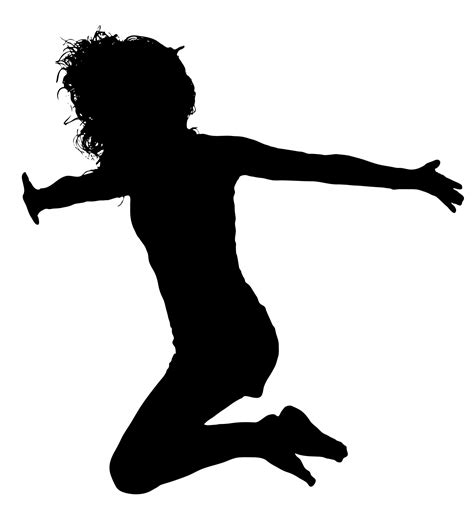 Silhouette Clip Free by Leaping Silhouette Free Stock Photo Domain