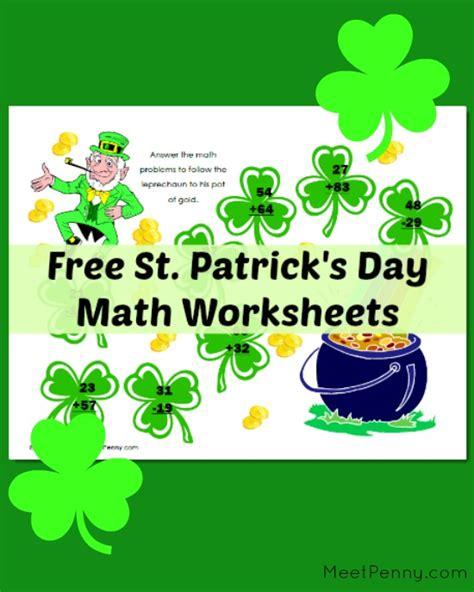 s day links free st s day math worksheets meet