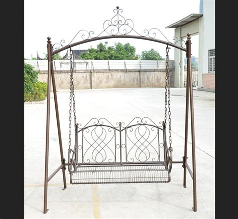 wrought iron swings garden wrought iron swing brown