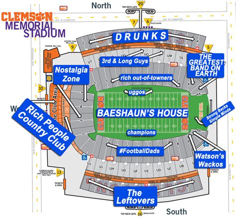 clemson seating chart valley a judgmental seating chart of memorial stadium