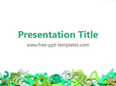 Math Ppt Template Powerpoint Math Templates