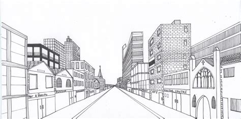 2 Point Perspective Drawing Cityscape by Pencil Drawing A Therapeutic Journey