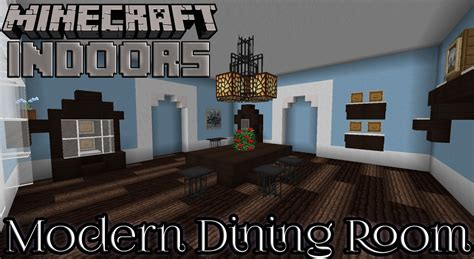 How To Make Dining Room In Minecraft Modern Dining Room In Blue Minecraft Indoors Interior