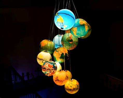 World Globe Light Fixture Gorgeous Recycled Globe Chandelier Lights Up Our World Inhabitat Green Design Innovation