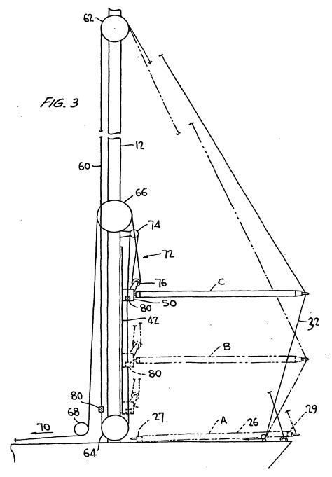 sailboat pole patent ep1383679b1 spinnaker pole control system for