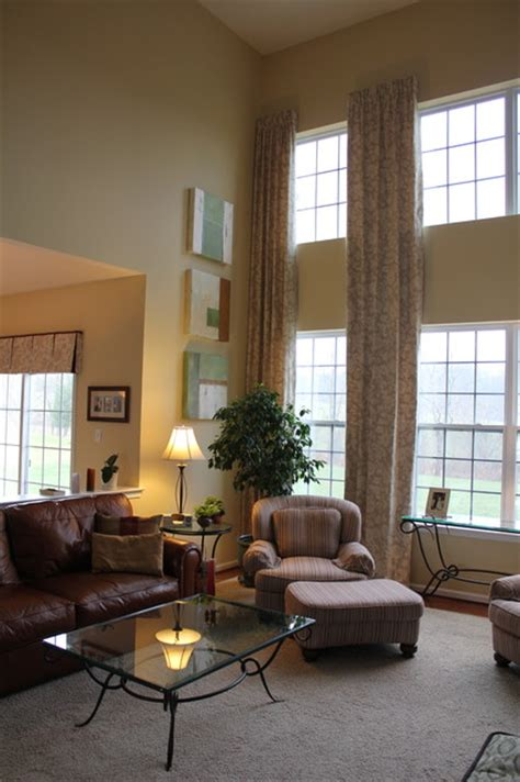 two story family room window treatments 2 story family room drapes eclectic curtains