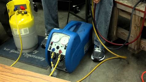 recovering from ac section refrigerant recovery youtube
