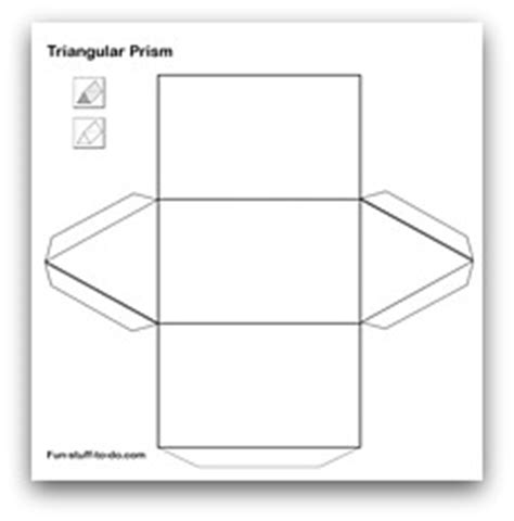 net pattern of triangular prism printable shapes