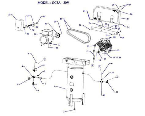 emglo gc5a 30v air compressor parts