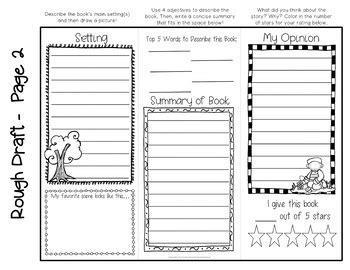 brochure book report shiloh project create a brochure book report activity tpt