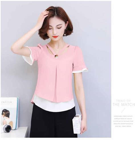 Blouse Chiffon Warna Pink Bb337 blouse warna pink cantik import 2017 myrosefashion