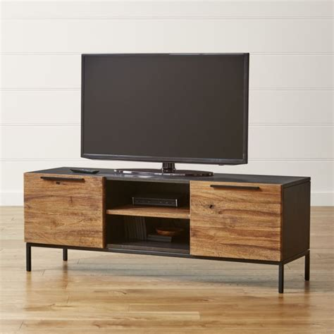 small tv console table rigby 55 quot small media console with base reviews