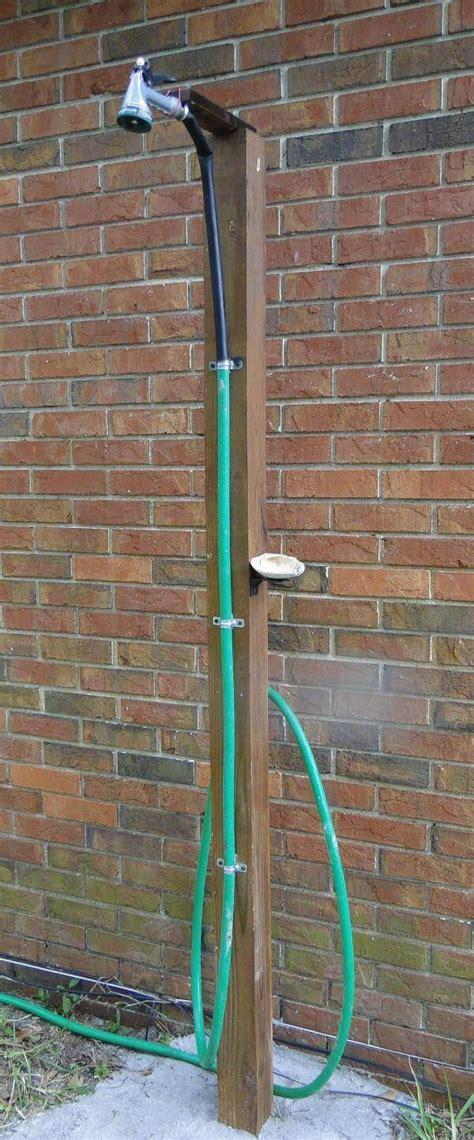 plumbing an outdoor shower how to make an outdoor shower using a simple garden hose