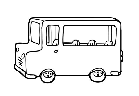 coloring page of school bus driver printable school bus coloring page for free