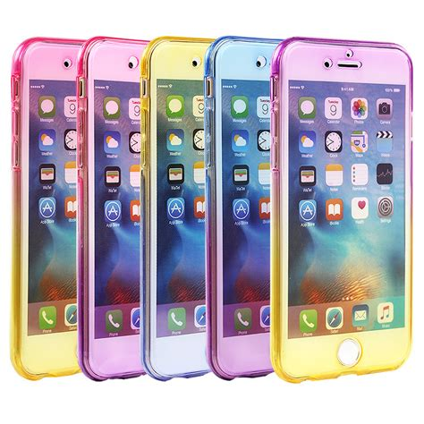 For Iphone 6 6s 360 Protect Soft Silicone Casing 1 360 silicone mobile phone bag for iphone 5 5s 6 6s plus 7 plus cover tpu